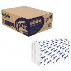 Бумажные листовые полотенца V-сложения эконом 1-сл. 250 л.