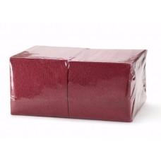 Салфетки бумажные 24х24 400 л 1 сл, бордо