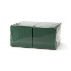 Салфетки бумажные 24х24 400 л 1 сл, зеленые
