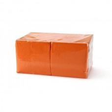 Салфетки бумажные 24х24 400 л 1 сл, оранжевые