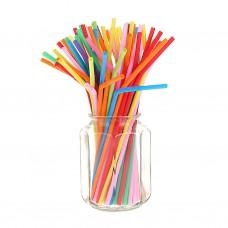 Трубочки для коктейля d=5 мм I=210 мм, гофрированные цветные