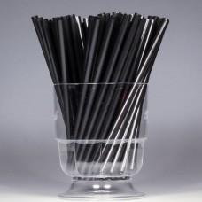 Трубочки для коктейля d=8 мм I=240 мм, черные