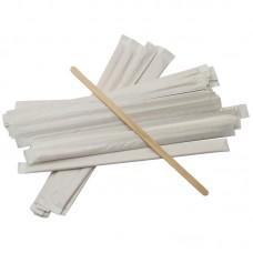 Размешиватель деревянный в индивидуальной упаковке 18 см