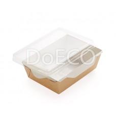 Контейнер бумажный для салата и горячих блюд с прозрачной крышкой ECO OPSALAD