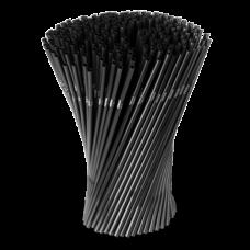 Трубочки для коктейля d=5 мм I=210 мм, гофрированные черные