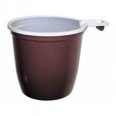 Чашка кофейная коричневая