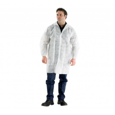 Медицинский халат посетителя на кнопках