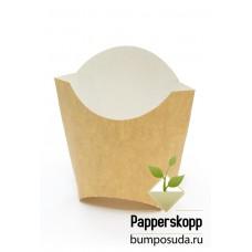 Коробка для картофеля фри крафт