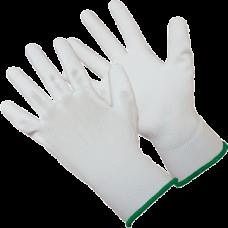 Перчатки нейлоновые белые с полиуретановым покрытием