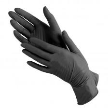 Виниловые перчатки черные