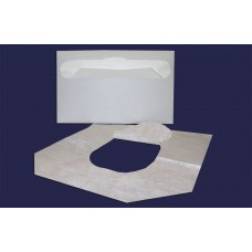 Одноразовое туалетное покрытие на унитаз ½  сложение